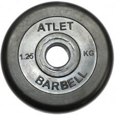 Диски обрезиненные, чёрного цвета, 26 мм 1.25кг