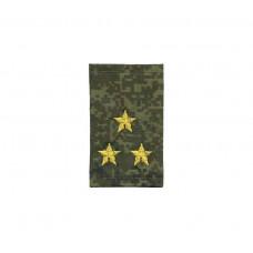 Фальшпогоны «русская цифра» вышитые желтым (полковник)