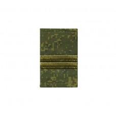 Фальшпогоны «русская цифра» вышитые зеленым (младший сержант)