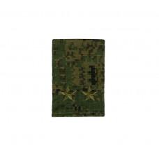 Фальшпогоны «русская цифра» вышитые зеленым (подполковник)