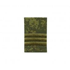 Фальшпогоны «русская цифра» вышитые зеленым (сержант)