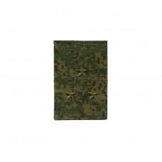 Фальшпогоны «русская цифра» вышитые зеленым (старший лейтенант)