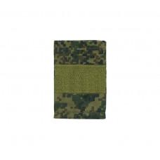 Фальшпогоны «русская цифра» вышитые зеленым (старший сержант)