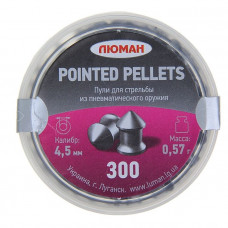 Пули «Люман» Pointed pellets, 4,5мм, 0,57 г. по 300 шт.
